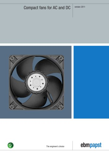AC and DC voltage compact fans