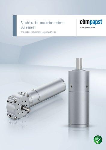 Brushless internal rotor motor ECI series