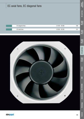 EC axial fans, EC diagonal fans