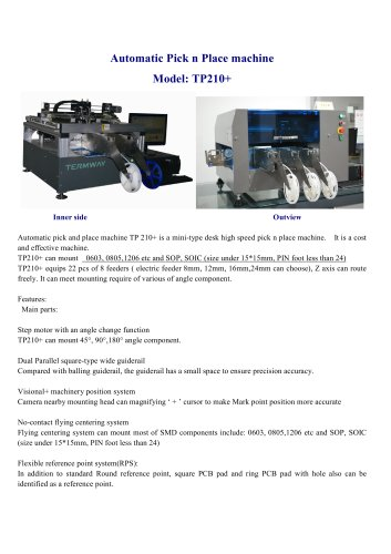 Desktop Automatic SMD chip Mounter TP210+