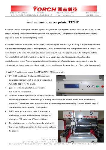 Semi-auto Stencil Printer T1200D