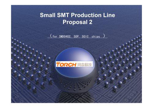 Small Desktop Automatic SMT machine line (smd)
