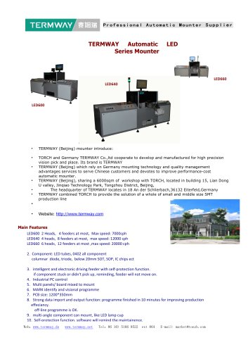 TERMWAY Automatic LED mounter introduce