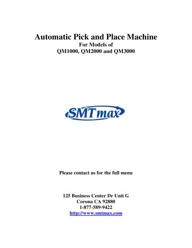 Automatic Pick and Place Machine