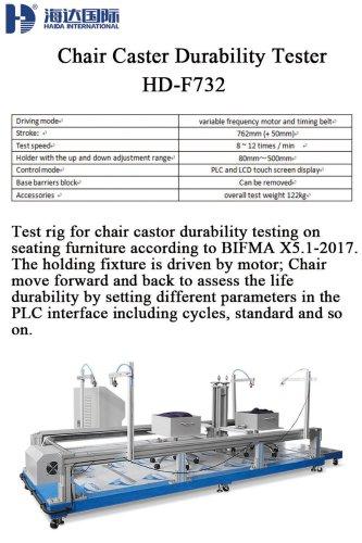 Chair Caster Durability Tester