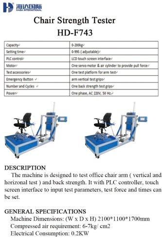 Chair Strength Tester