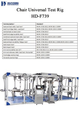Chair Universal Test Rig