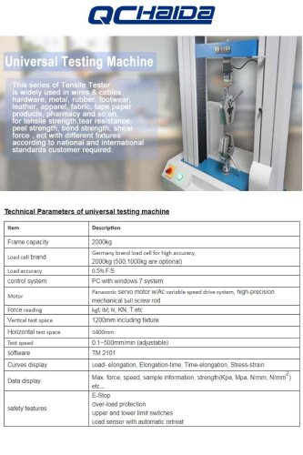 Computer Control Tensile Test Machine