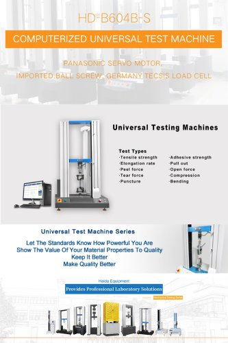 Computerized Universal Test Machine