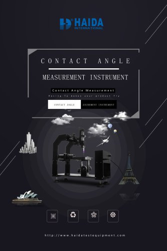 Contact Angle Measurement Instrument