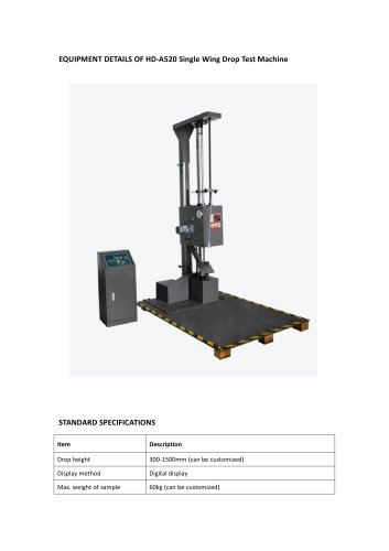 Drop test machine BY ISTA,ASTM