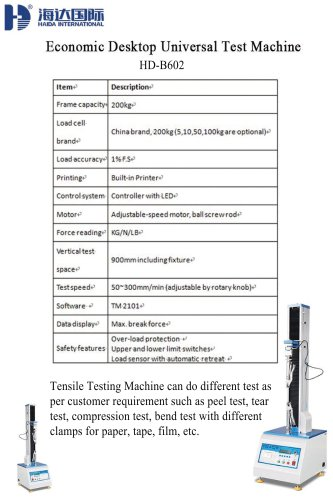 Economic Desktop Universal Test Machine