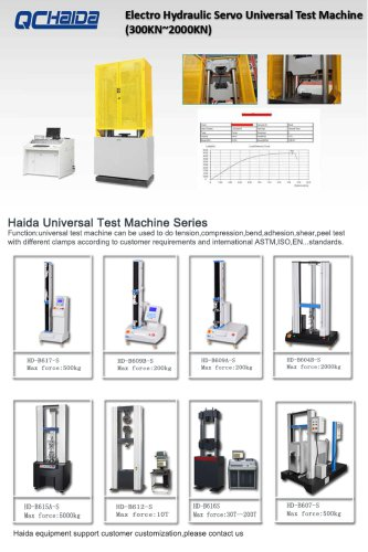 Electro Hydraulic Servo Universal Test Machine