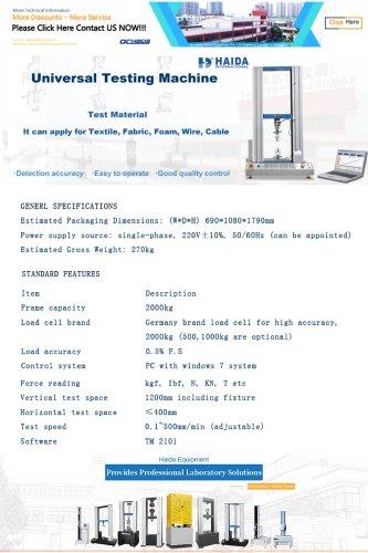 Electronic Tensile Testing Machime
