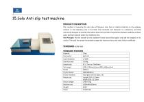 Footwear Raw material Testing and finished shoe testing machines - 29