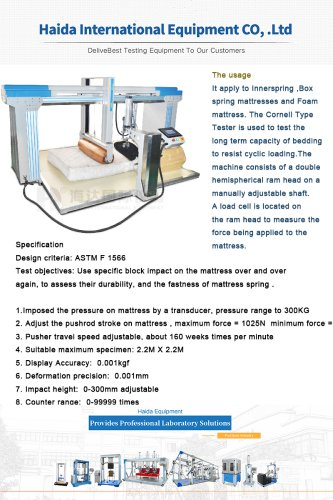 Furniture Testing Instrument