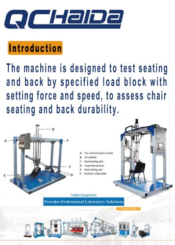 HD-F780 Chair And Seat Testing Machine