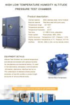 HIGH LOW TEMPERATURE HUMIDITY ALTITUDE PRESSURE TEST CHAMBER - 1