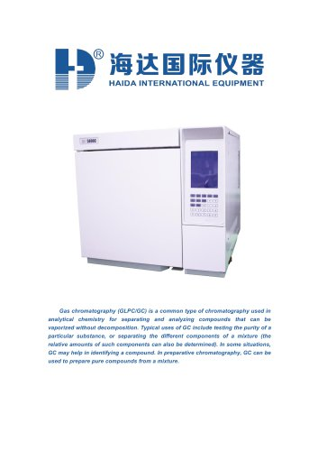 Hplc gas chromatography mass spectrometry (GLPC/GC)