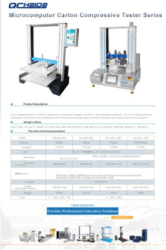 Microcomputer Carton Compressive Tester Series