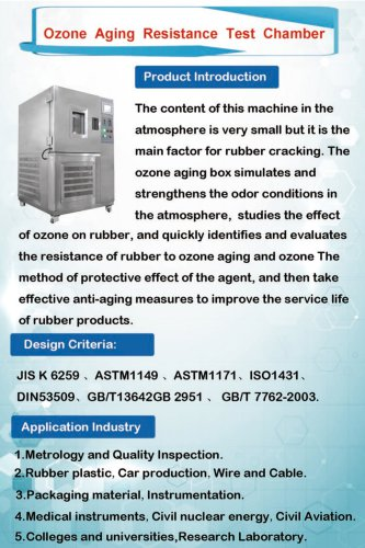 Ozone aging resistance test chamber