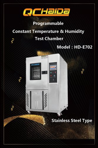 Programmable constant temperature and humidity chamber