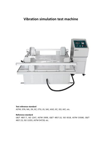 Vibration simulation test machine