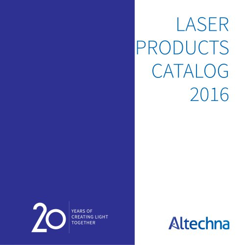 Laser Products Catalog 2016