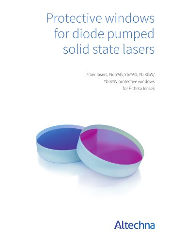 Protective Windows for Diode Pumped Solid State Lsers