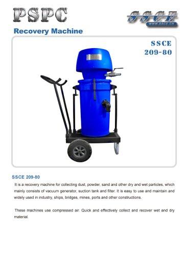 sandblasting machine recovery machine 209/80