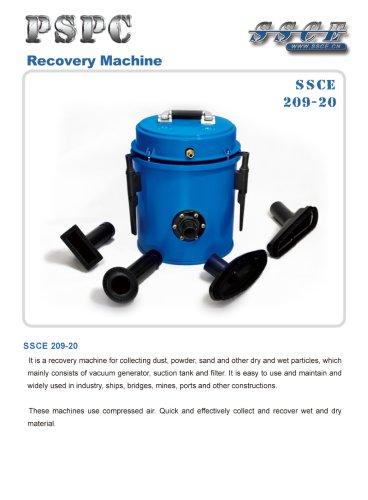sandblasting machine recovery machine SSCE 209/20