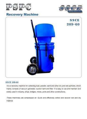 sandblasting machine recovery machine SSCE 209/60