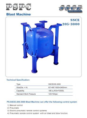 sandblasting machine SSCE 205/3000