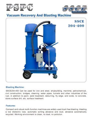 sandblasting machine Vacuum recovery and blasting machine