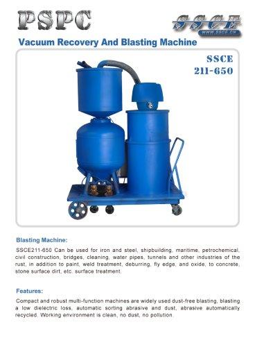 sandblasting machine vacuum recovery and blasting machine SSCE 211/650