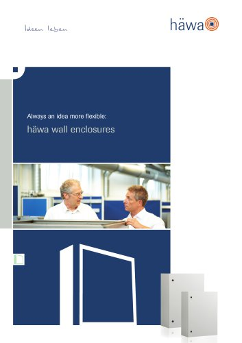 Always an idea more flexible: häwa wall enclosures