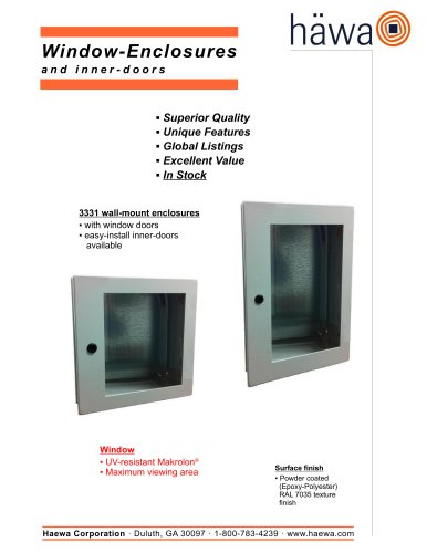 Window-Enclosures andinner - doors