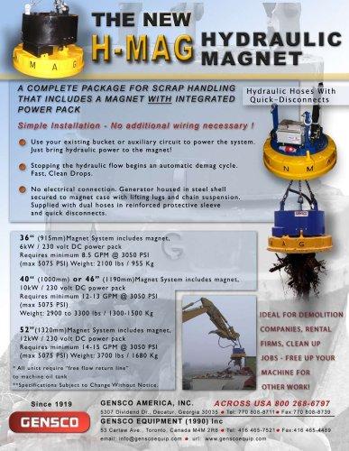 H-MAG HYDRAULIC MAGNET