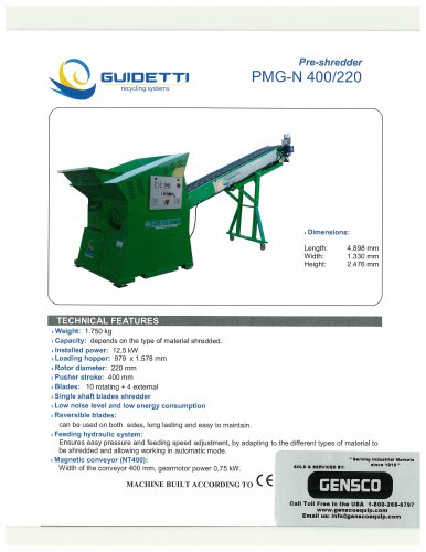 PMG-N Cable Shredder