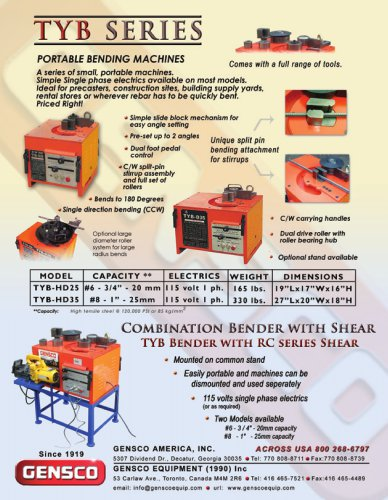 TYB and RC series brochure