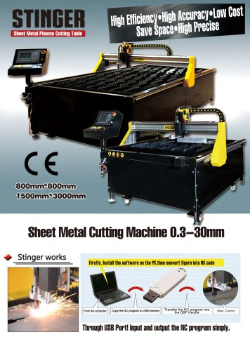 New Stinger plate CNC cutting machine