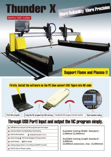 Thunder X Gantry CNC plasma cutting machine