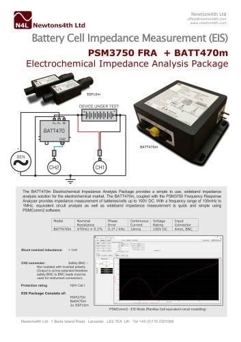 Battery Cell Impedance Measurement (EIS) PSM3750 FRA + BATT470m