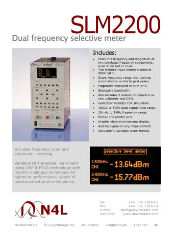 Dual frequency selective meter  SLM2200