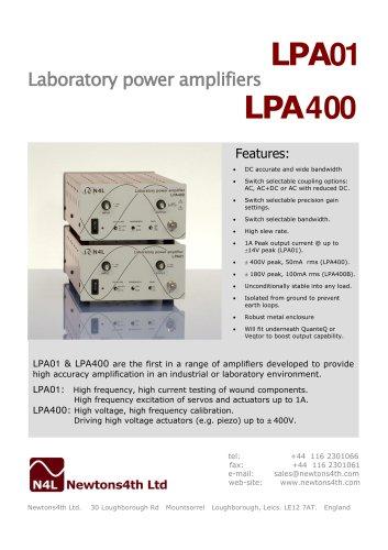 LPA01 Laboratory Power Amplifier