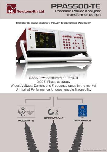 PPA5500-TE Precision Power Analyzer Transformer Edition