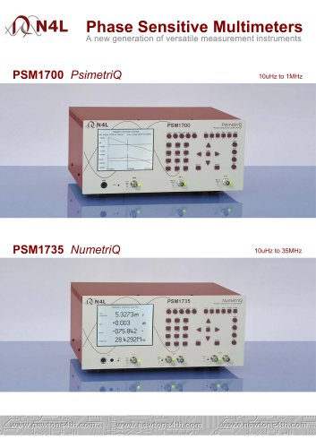 PSM1700 Frequency Response Analyzer