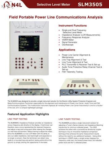 Selective Level Meter SLM3505