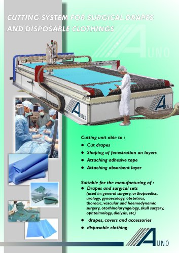 Machines for surgical fabrics and disposable clothing