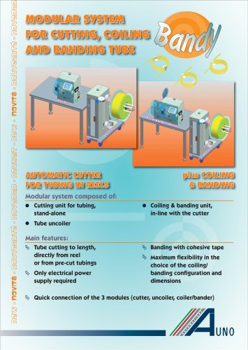 modular system for cutting, coiling and banding tube